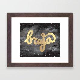 La Bruja Vibes in Gold Framed Art Print