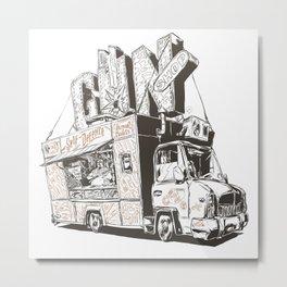 Shopping Truck Metal Print