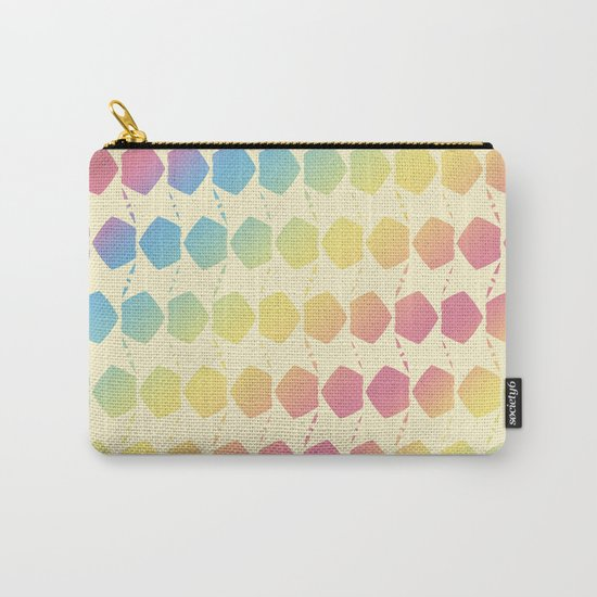 Fall Color Pattern Carry-All Pouch