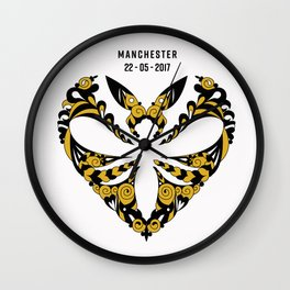 Manchester Bee Appeal Wall Clock