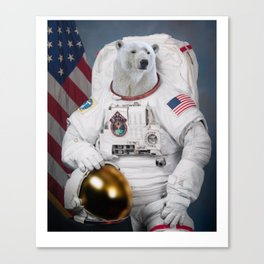 Where No Polar Bear Has Gone Before Canvas Print