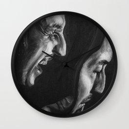 Pirandello's Mask Wall Clock