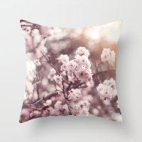 blush Throw Pillows featuring Blush by Jamesy (happypastel)