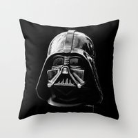 darth vader Throw Pillows featuring Darth by Creadoorm