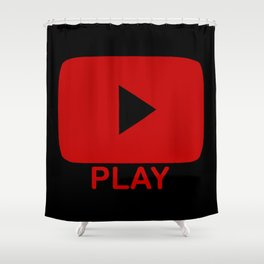 Play Button Shower Curtain