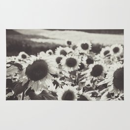 Sunflower Black And White 1 Rug