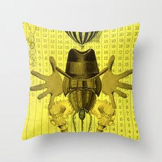 Collage monster Throw Pillow