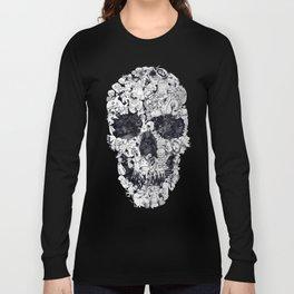 Doodle Skull BW Long Sleeve T-shirt