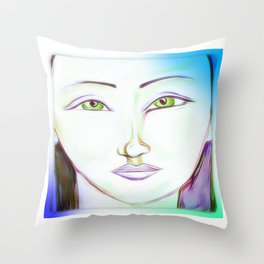 The peaceful soul Throw Pillow