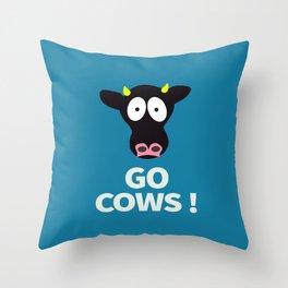Go Cows Poster Principal's Office Version Throw Pillow