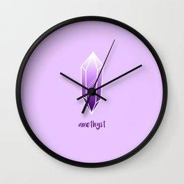 Amethyst Crystal Wall Clock