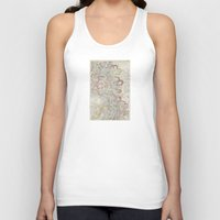 geology Tank Tops featuring Beautiful Map of the Lower Mississippi River by Elegant Chaos Gallery