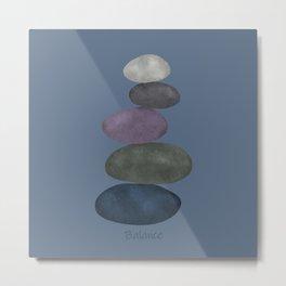 Balancing stones Metal Print