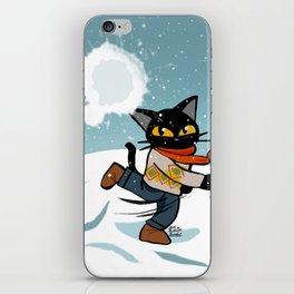 Snowball fight iPhone Skin
