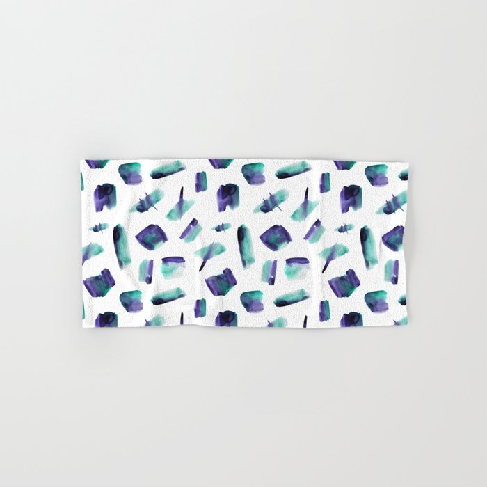 Zero gravity || abstract watercolor Hand & Bath Towel