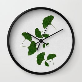Ginkgo Leaf I Wall Clock