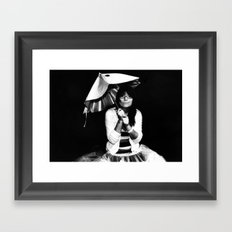 Burnt Umbrella  Framed Art Print