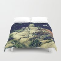 om Duvet Covers featuring OM  by Lucca Nazario