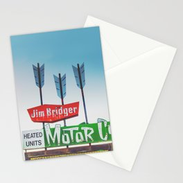 Motor Court Stationery Cards