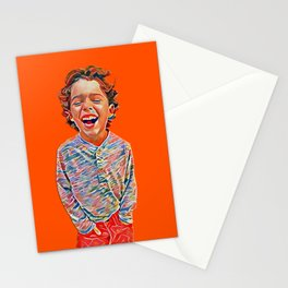 Portrait of a Happy Child Stationery Cards