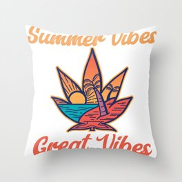Summer Vibes Great Vibes Throw Pillow
