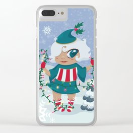 Christmas Sprite Clear iPhone Case