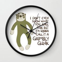 Grimbly Gunk Wall Clock