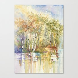 Lazy Day on Swan Lake Canvas Print