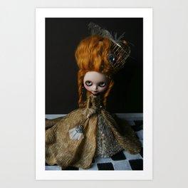 BAROQUE MARIE ANTOINETTE BLYTHE ART DOLL GOLD Art Print