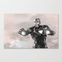 ironman Canvas Prints featuring ironman by Ryan Chan