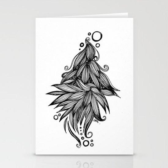 Ornate tangle wave form Stationery Cards
