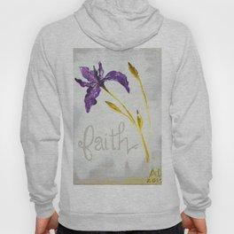 Faith Wild Iris by Ainé Daveéd Hoody