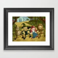 Wizard of Oz fan art Framed Art Print