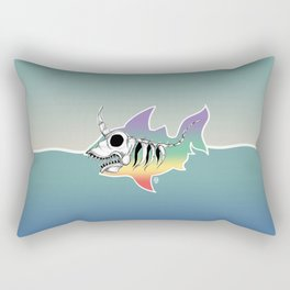 Unicorn Shark Skeleton Rectangular Pillow