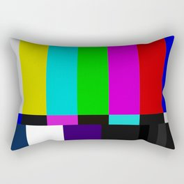 TV bars color testTV bars color test Rectangular Pillow