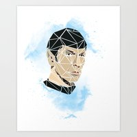 spock Art Prints featuring Spock by Josh Ln