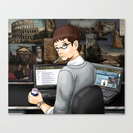 RE: Missing Yoghurt Canvas Print