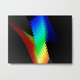 Rainbow Steps Metal Print