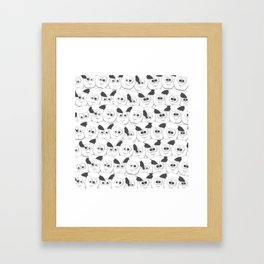 Crazy Herd of Sheep Framed Art Print