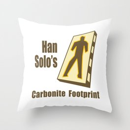 Carbonite Footprint Throw Pillow