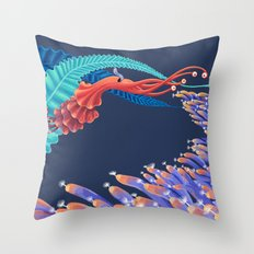 Dancing monster Throw Pillow