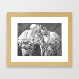 The Incredulity of Doctor Thomas Framed Art Print