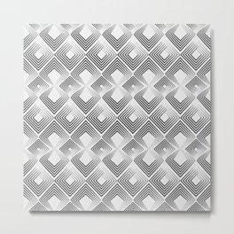 Black and light gray art Deco . No. 59 Metal Print