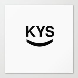 KYS SMILE Canvas Print