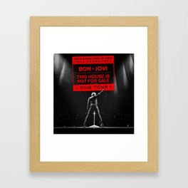 bon jovi this house is not for sale 2018 tour Framed Art Print