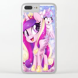 Little Princess Cadance and Flurry Heart Clear iPhone Case