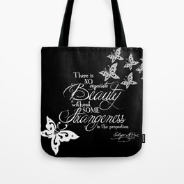 Strange Skullerflies - EA Poe Quote Tote Bag