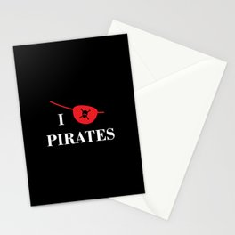 I heart Pirates Stationery Cards