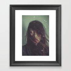 Ghost in Photograph Framed Art Print