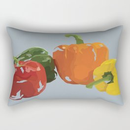Bell Peppers Rectangular Pillow